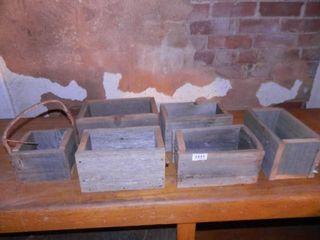 Wooden Barnwood Boxes  6