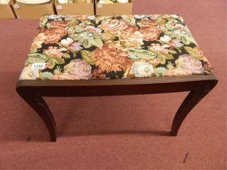 Bench Seat w Floral Fabric