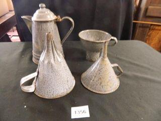 Graniteware Funnels  Coffee Pot