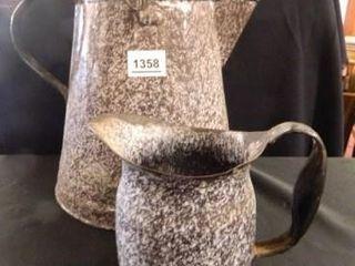 Enamelware Cowboy Coffee Pot