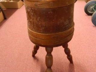 Needlepoint Wooden Bucket