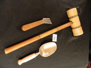 Wooden Mallet  Scoop  Tool