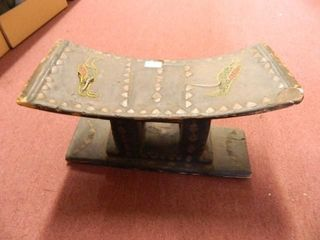 Wooden Seat Covered In leatherIJ