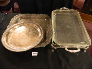 Silverplate Trays 2  Casserole