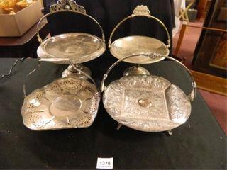 Silverplate Bride s Baskets   4