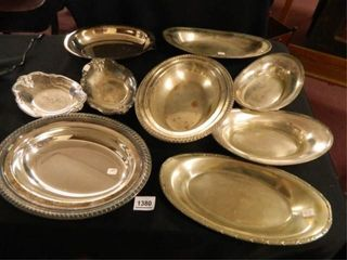 Serving Trays   9  Some Silverplate