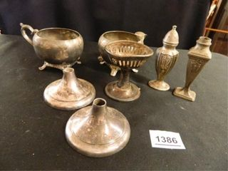 Silverplated Items  Some Unmarked