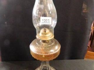 Kerosene lamp  Patterned Glass