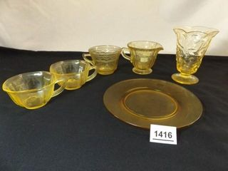 Yellow Glass Pieces   Variety    6
