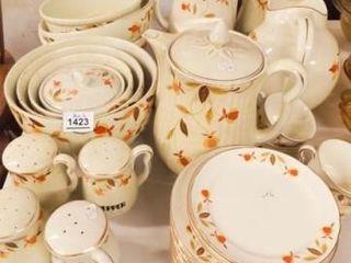 Hall Dish Set  Serving Bowls  Etc  Autumn leaf 45