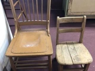 Wood Full Size Chair  Child s Chair  2