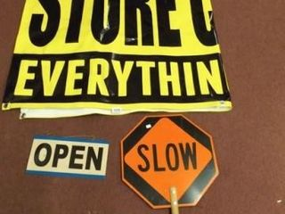 Signs   Open Closed  Slow Stop  Store Closing  3