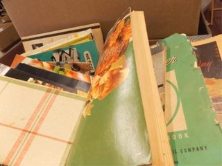 Cooking Books  Pamphlets   Variety   3 Boxes