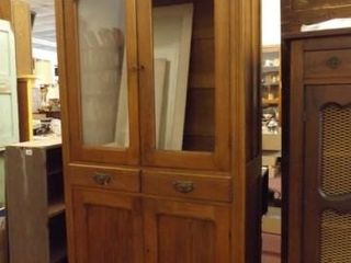 Wood Cabinet with Doors  Shelves  72  x 37  x 16