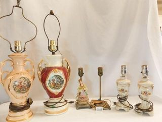 Electric lamps  Victorian  Floral Themes  6
