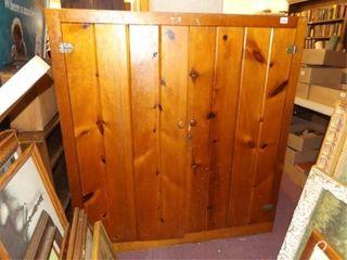 Pine Two Door Cabinet  52  x 48  x 12
