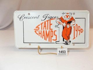 Crescent  OK State Football 1990 license Plate