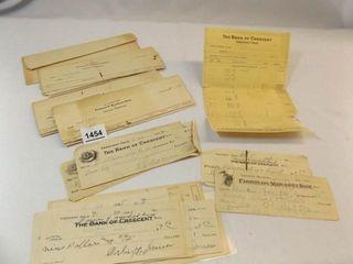 Crescent  OK Bank Checks  1920 s  1930 s