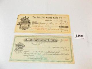 1909 Olney  OK Bank Check   Caddo  OK Bank CD