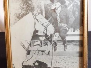 Cowboy  Horse Framed Photo  9  x 11