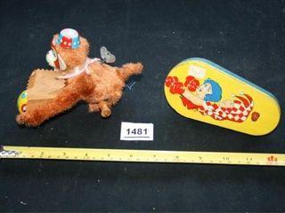 Vintage Toys  Metal Noisemaker  Monkey