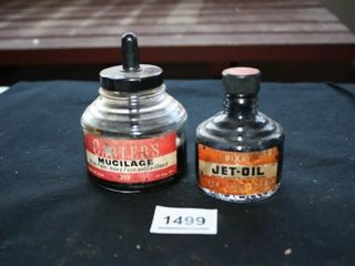 Ink Bottles with Ink   Mucilage   Jet Oil