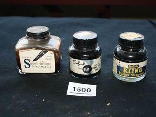 Ink Bottles  3   Super Chrome  Sanfords  Kling