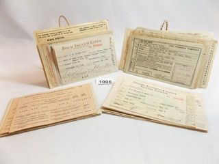 1930 s to 1950 s Train Tickets  Receipts  40