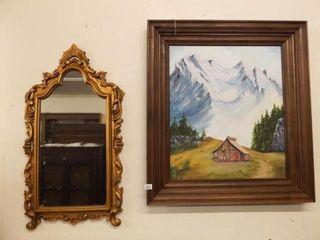 Wall Mirror  Framed Canvas Art  2