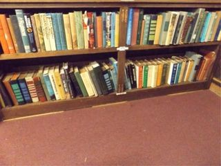 Books   Two Rows   approximately 75 books