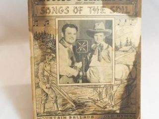 1936 Songs of the Soil Songbook