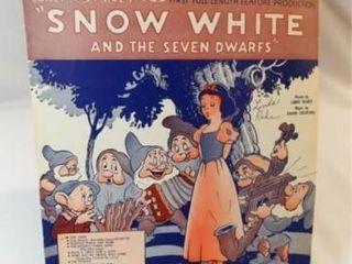 1937 Sheet Music  Snow White Song