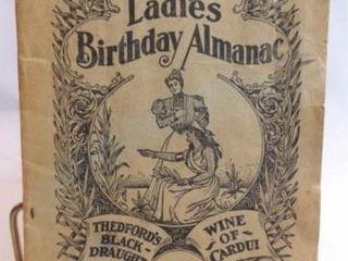 1913 The ladies Birthday Almanac  Cardui Medicine