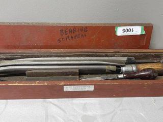 Bearing Scrapers In Wood Box