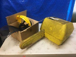 Mccullogh Mac140 Chainsaw For Parts   Head Gear