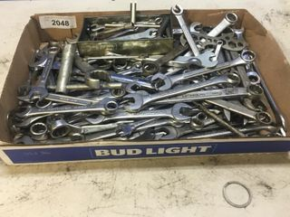 Box lot Of Assorted Of Wrenches