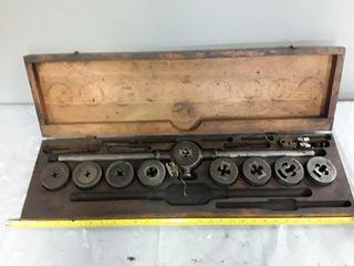 Tap And Die Set In Wood Case