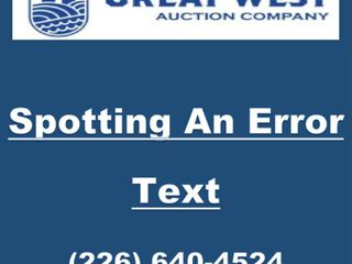 Spotting An Error Txt  226  640 4524