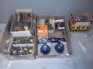 2 Box lots Of Wire Brushes And Surface Blending