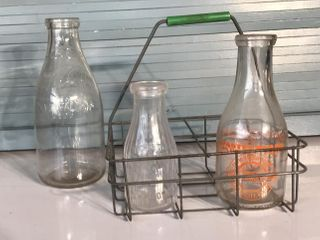 Milk Jars and Crate