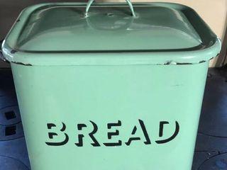 Green Enamelware Bread Box