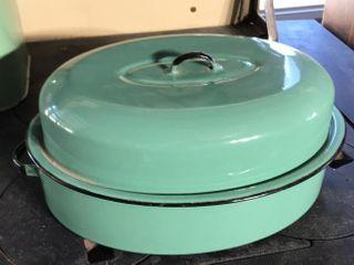 Green Enamel Roaster