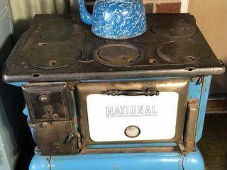 Newart National Blue Cast Iron Stove
