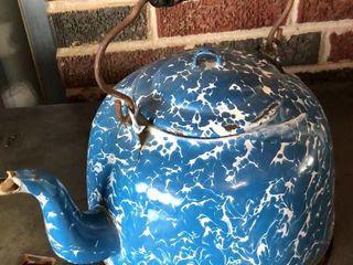 large Blue Swirl Kettle