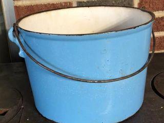 Cast Iron Blue Enamel Pot