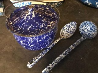 Small Covered Pan  Spoon  ladle