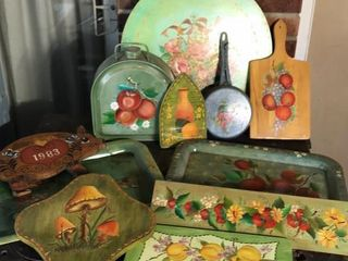 Hand Painted Fuel Container  Skillet  and More