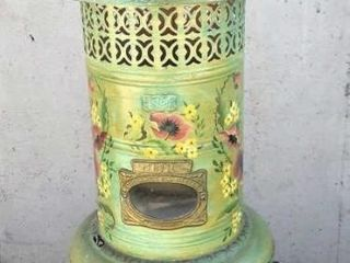 Antique Hand Painted Oil Heater