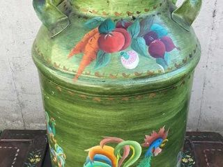 Antique Hand Painted Cream Can