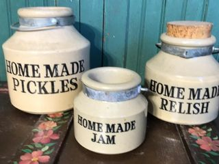 English Stoneware Jars